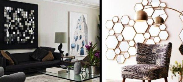 b02d6b1002 Υπάρχουν πολλοί τρόποι για να διακοσμήσεις τους άδειους τοίχους του σπιτιού  σου. Ένας εντυπωσιακός τρόπος να το κάνεις είναι με μερικούς καθρέφτες.